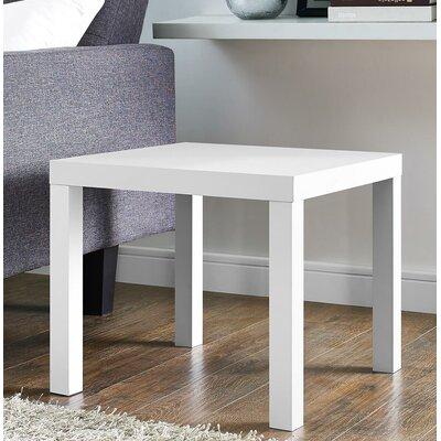Carissa End Table Color: White