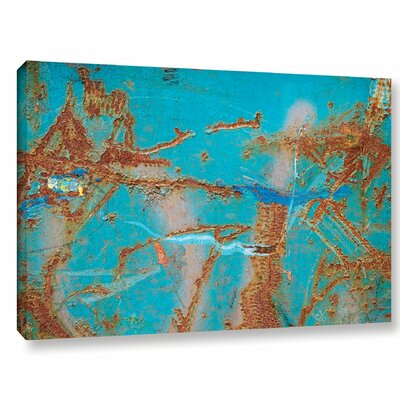 'Rusty Turquoise' Photographic Print on Wrapped Canvas Size: 12