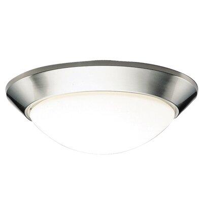 Stevens 2-Light Glass Shade Flush Mount Finish: Brushed Nickel