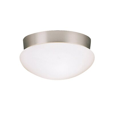 Aniya Flush Mount in Brushed Nickel Size: 5.25 H x 9.2 W, Finish: Brushed Nickel, Bulb Type: Fluorescent