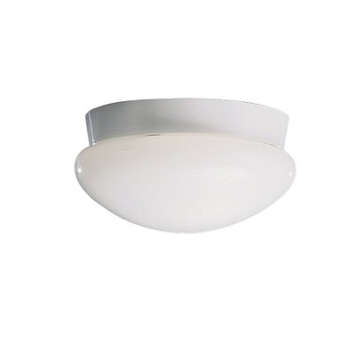 Aniya Flush Mount in Brushed Nickel Size: 5.25 H x 9.2 W, Bulb Type: Fluorescent, Finish: White