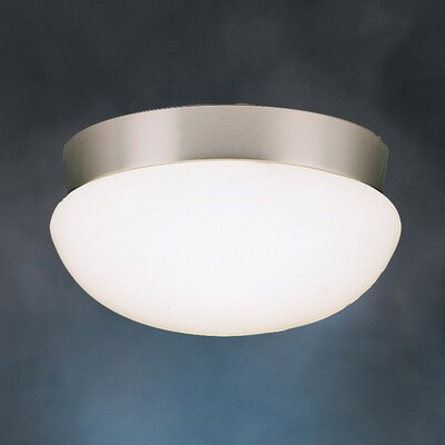 Stevens Flush Mount in Brushed Nickel Finish: Brushed Nickel, Size: 5H x 10 dia.