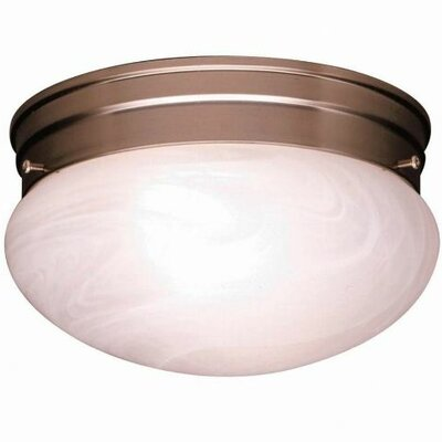 Stevens 1-Light Glass Shade Flush Mount (Set of 12) Size: 5.5 H x 9.5