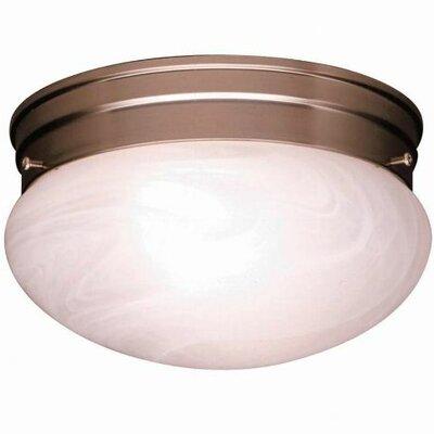 Stevens 1-Light Glass Shade Flush Mount (Set of 12) Size: 5.5 H x 9.5