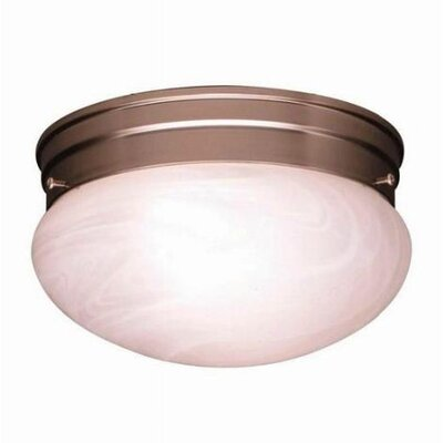 Stevens 1-Light Glass Shade Flush Mount (Set of 12) Size: 4.5 H x 7.5