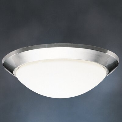 Stevens 1-Light Flush Mount Finish: Brushed Nickel