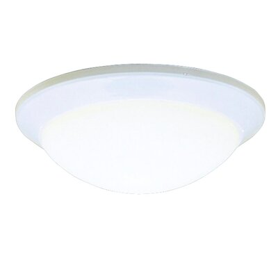 Stevens 1-Light Flush Mount Finish: White