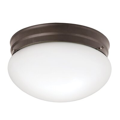 Stevens 2-Light 60W Flush Mount Finish: Brushed Nickel