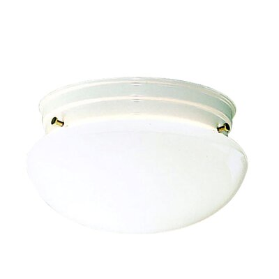 Stevens 2-Light 60W Flush Mount Finish: White
