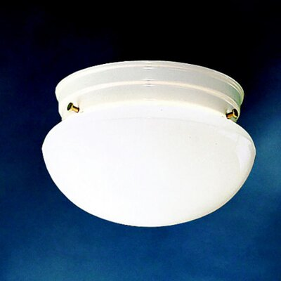 Aniya 1-Light 60W Flush Mount (Set of 12) Finish: White