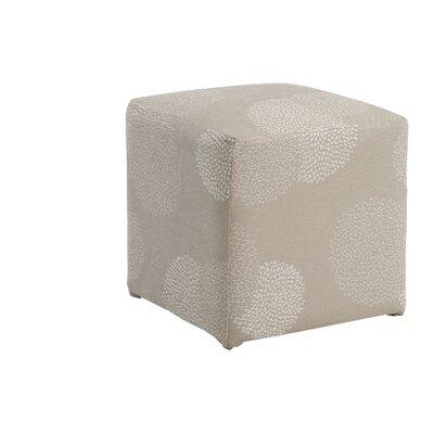 Doris Sunflower Cube Ottoman Upholstery: Ivory