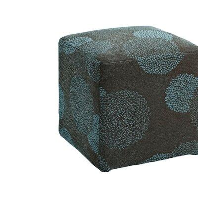 Doris Sunflower Cube Ottoman Upholstery: Blue