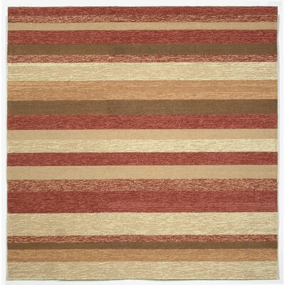 Derby Red Stripe Outdoor Rug Rug Size: Square 8