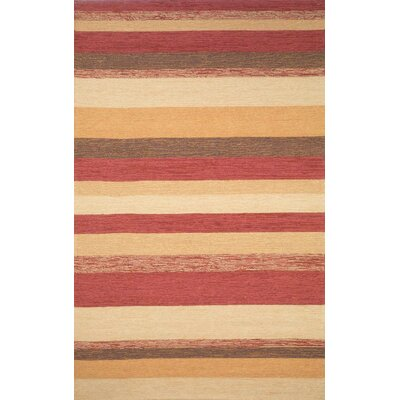 Cali Red Stripe Outdoor Rug Rug Size: 5 x 76