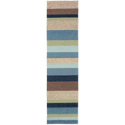 Derby Stripe Denim Indoor/Outdoor Rug Rug Size: Runner 2 x 8