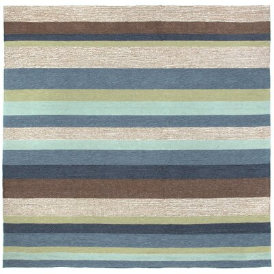 Derby Stripe Denim Indoor/Outdoor Rug Rug Size: Square 8