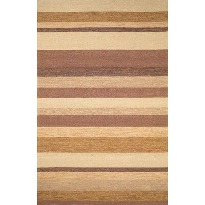 Derby Stripe Sand Indoor/Outdoor Rug Rug Size: 76 x 96