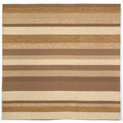 Derby Stripe Sand Indoor/Outdoor Rug Rug Size: Square 8
