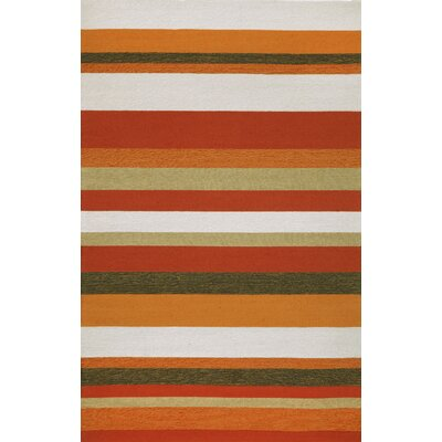 Derby Stripe Orange Area Rug Rug Size: 83 x 116