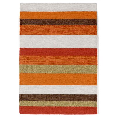 Derby Stripe Orange Area Rug Rug Size: 2 x 3