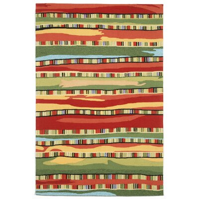 Cali Fiesta Red Area Rug Rug Size: 5 x 76