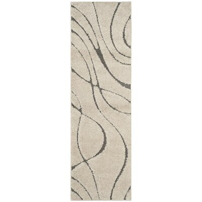 Enrique Cream/Gray Area Rug Rug Size: Runner 23 x 7
