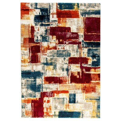 Bridget Blue/Gray/Red Area Rug Rug Size: 2 x 36