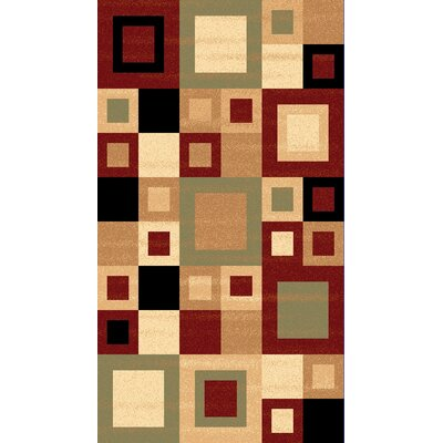Donoghue Red/Sage Multi Rug Rug Size: Rectangle 53 x 77