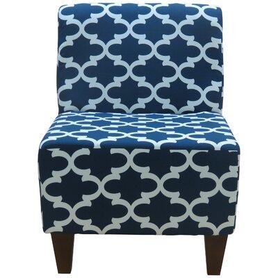 Felicia Slipper Chair Color: Navy Blue