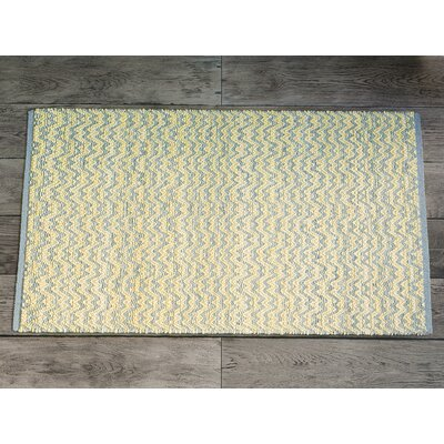 Millington Light Blue/Ivory Cotton Area Rug