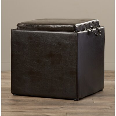 Marla 2 Piece Storage Ottoman Set Upholstery: Brown