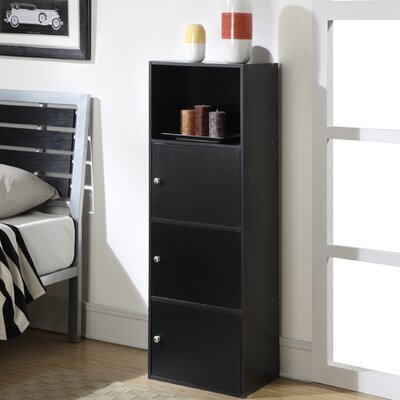 Kiley 3 Drawer Standard Chest Color: Black