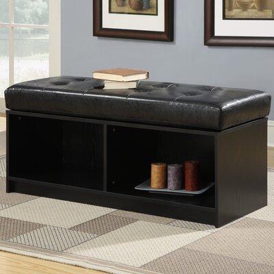 Marla Ottoman Upholstery: Black