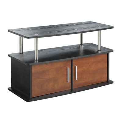 Tatiana 2 Door TV Stand with Cabinets Finish: Cherry