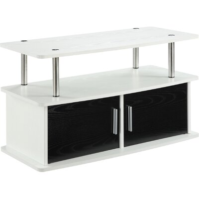 Tatiana 2 Door TV Stand with Cabinets Finish: White