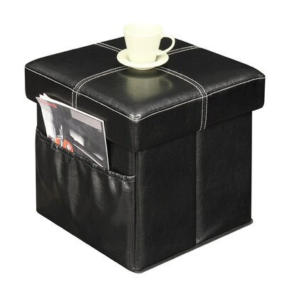 Dayana Storage Ottoman Upholstery Color: Black