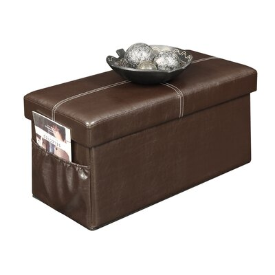 Dayana Double Collapsible Ottoman Upholstery Color: Espresso