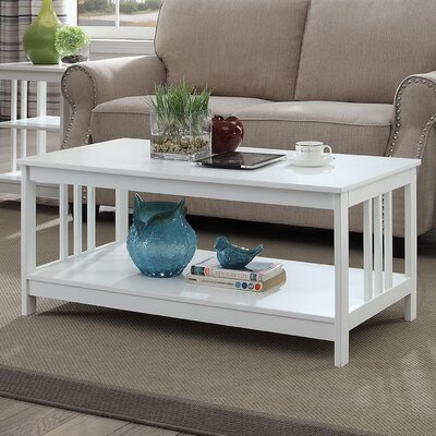 Cade Coffee Table with Magazine Rack Finish: White
