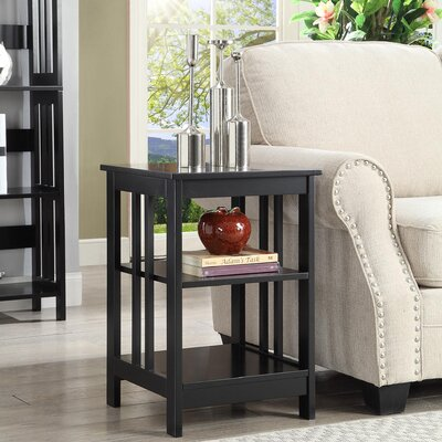 Evelynn End Table Finish: Black