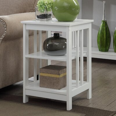 Evelynn End Table Finish: White