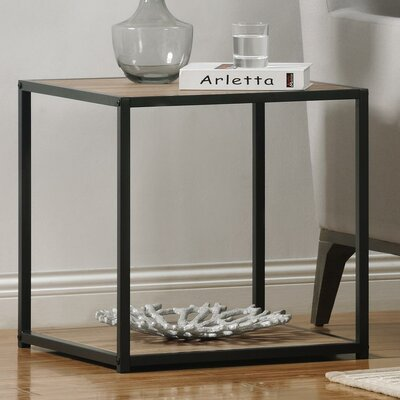 Claudette End Table Color: Gunmetal Grey / Oak