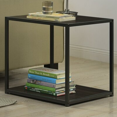 Claudette End Table Finish: Espresso / Gray