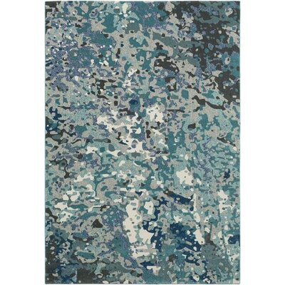 Donvers Teal/Navy Area Rug Rug Size: Rectangle 710 x 106