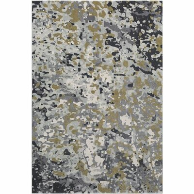 Donvers Lime/Light Gray Area Rug Rug Size: Rectangle 53 x 76