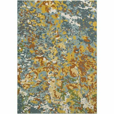 Donvers Teal/Lime Area Rug Rug Size: Rectangle 710 x 106