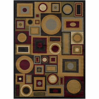 Doran Dark Red/Tan Area Rug Rug Size: Rectangle 93 x 126