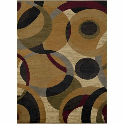 Doran Burnt Orange/Tan Area Rug Rug Size: 93 x 126
