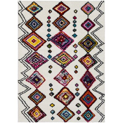 Dorchester Medium Gray/Bright Pink Area Rug Rug Size: Rectangle 53 x 73