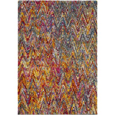Dorchester Bright Pink/Medium Gray Area Rug Rug Size: 5'3