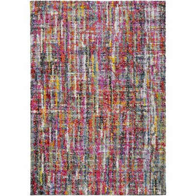 Dorchester Bright Pink/Medium Gray Abstract Area Rug Rug Size: Rectangle 53 x 73